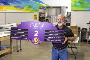 Maumelle Commercial Printing Services Colonial Aisle Signage client 300x200